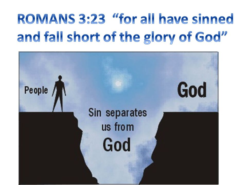 ROMANS 3:23 for all have sinned