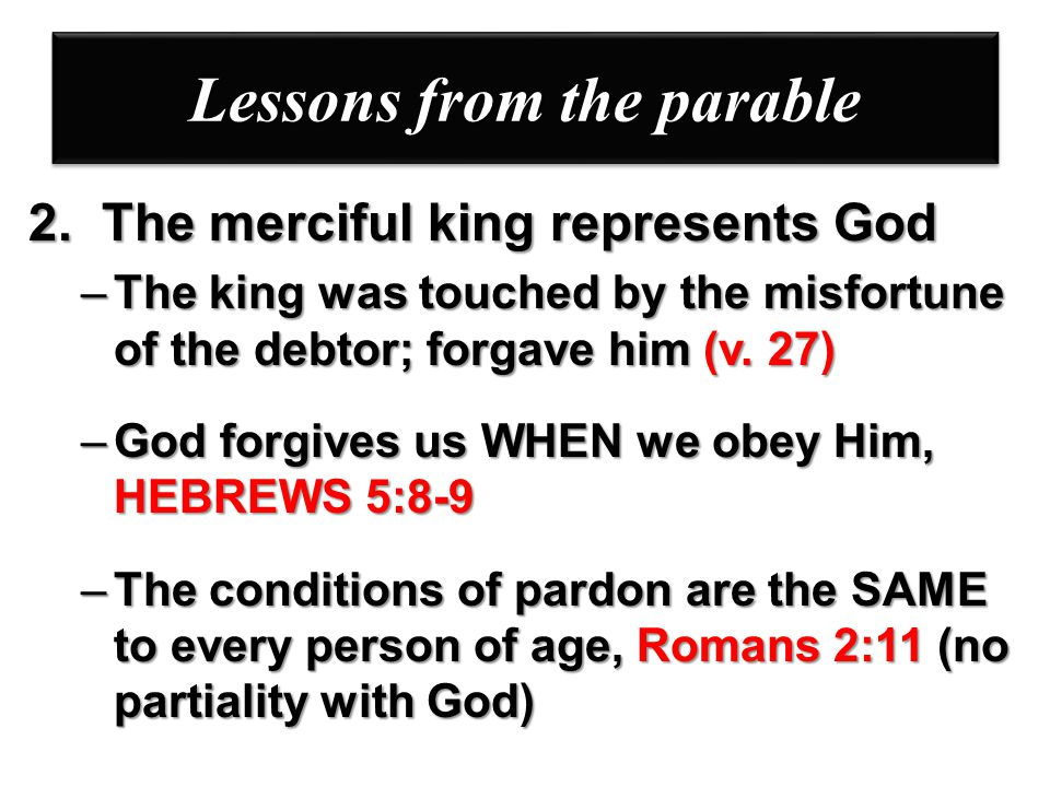 Lessons from the parable