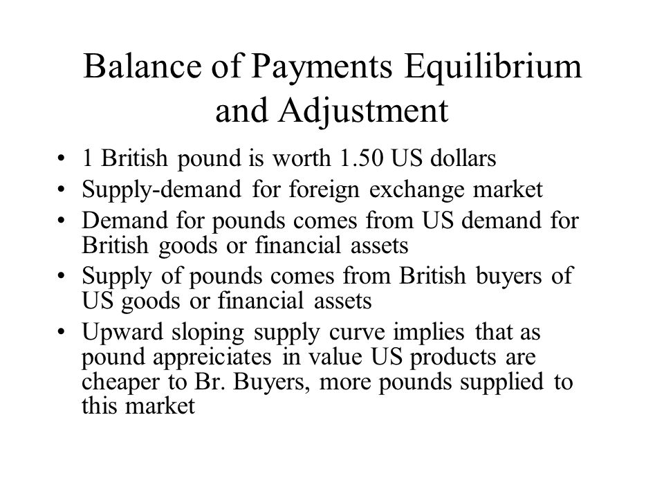 Balance of Payments Equilibrium and Adjustment