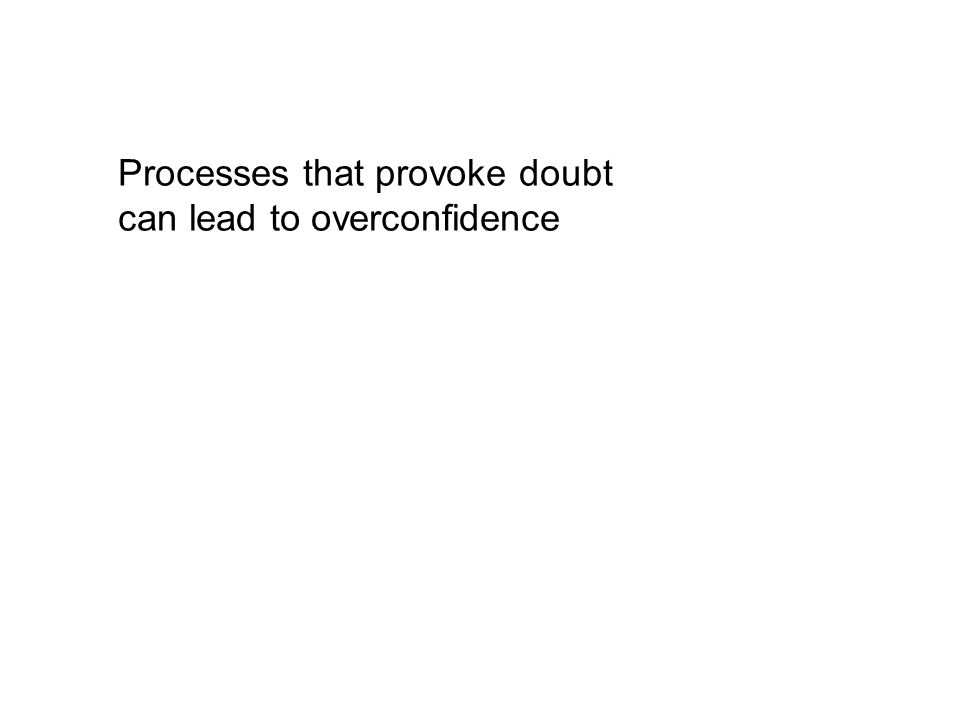 Processes that provoke doubt