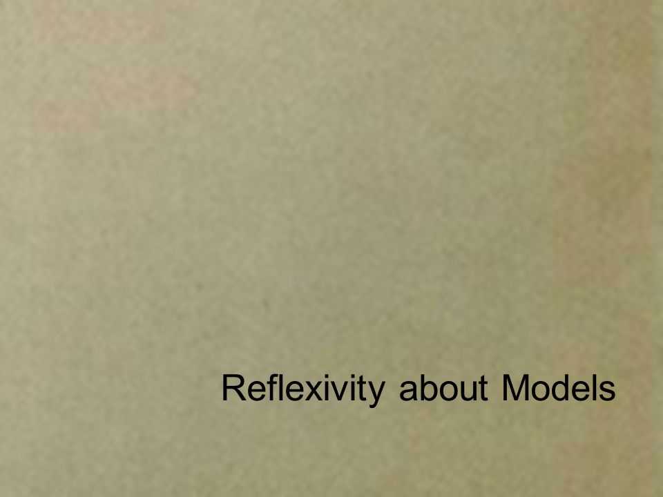 Reflexivity about Models