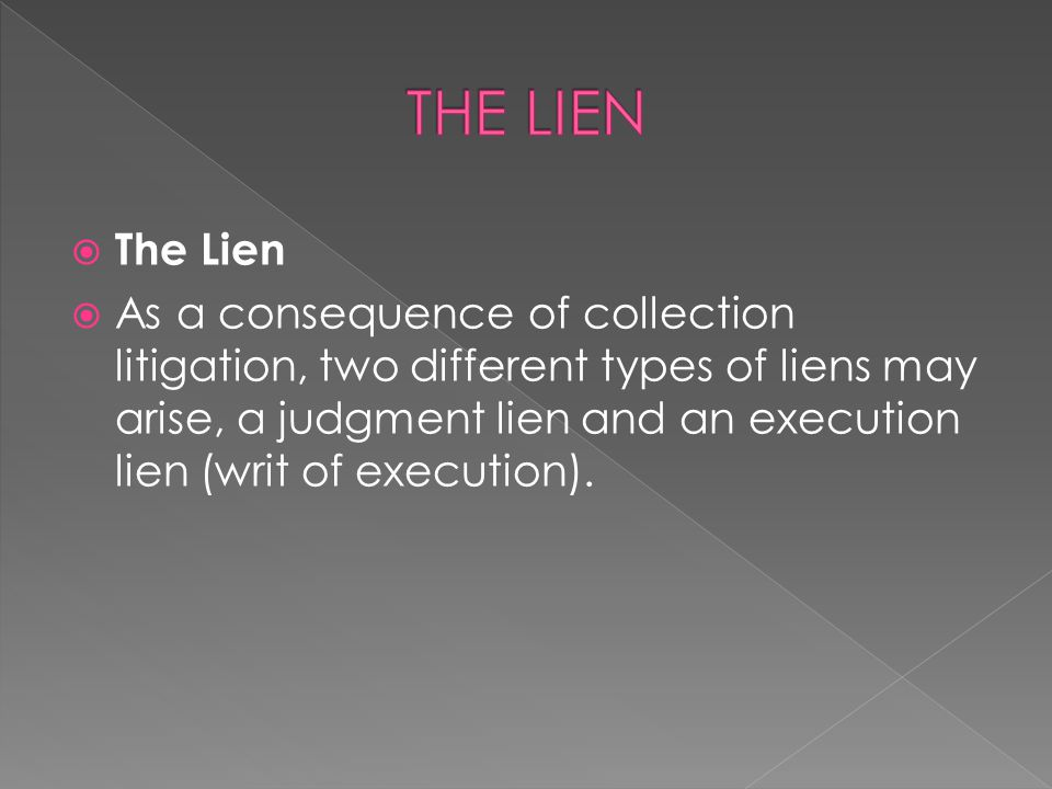 THE LIEN The Lien.