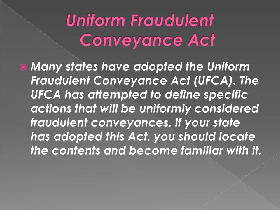 Uniform Fraudulent Conveyance Act