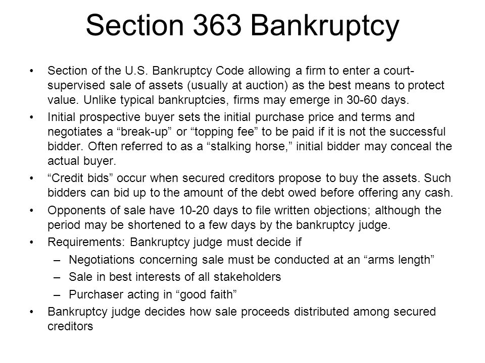 Section 363 Bankruptcy
