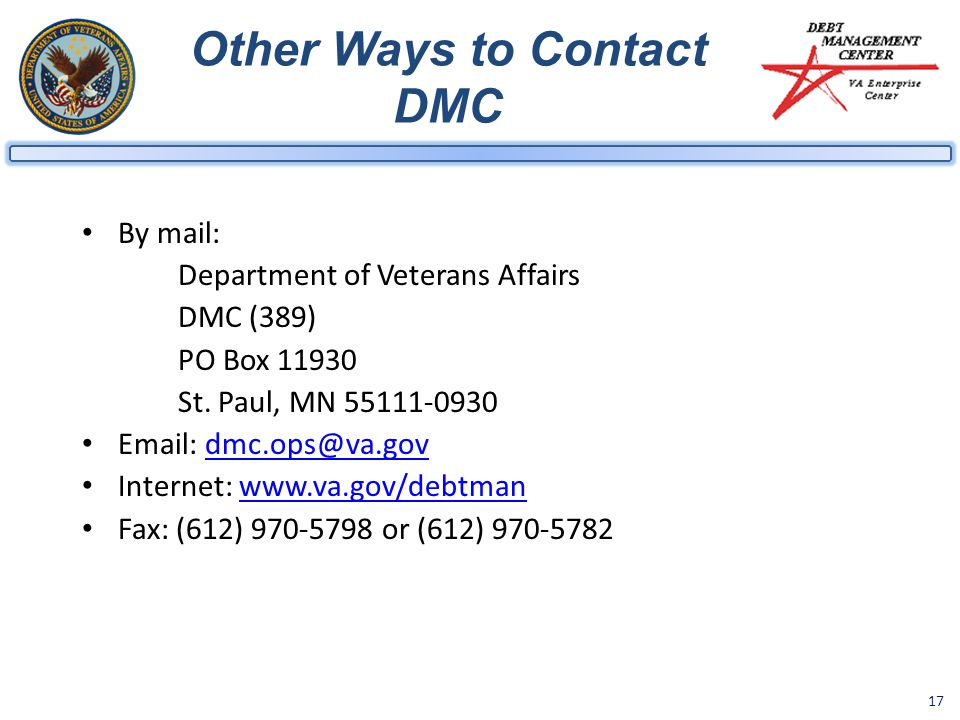 Other Ways to Contact DMC