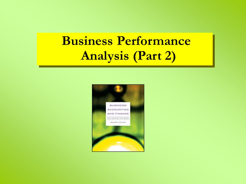Business Performance Analysis (Part 2)