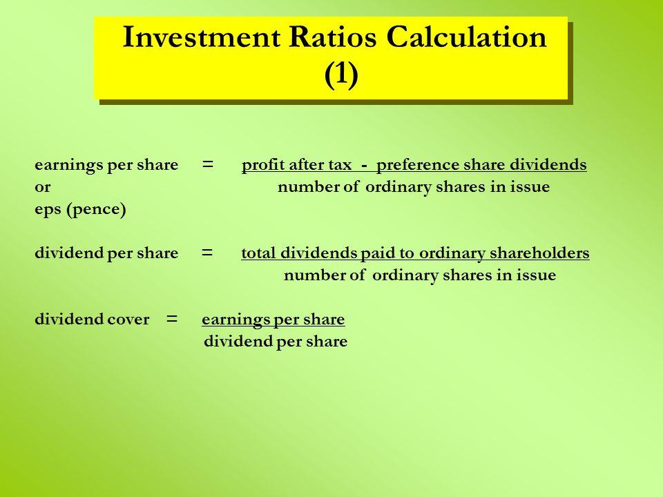 Investment Ratios Calculation (1)