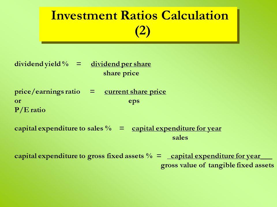 Investment Ratios Calculation (2)