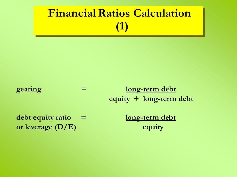 Financial Ratios Calculation (1)