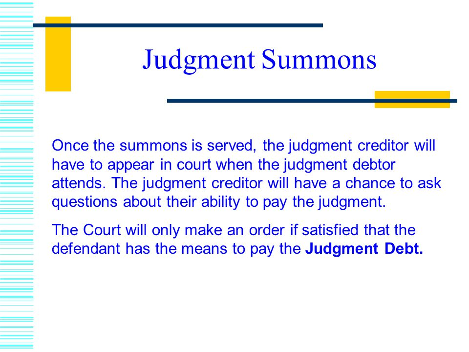 Judgment Summons