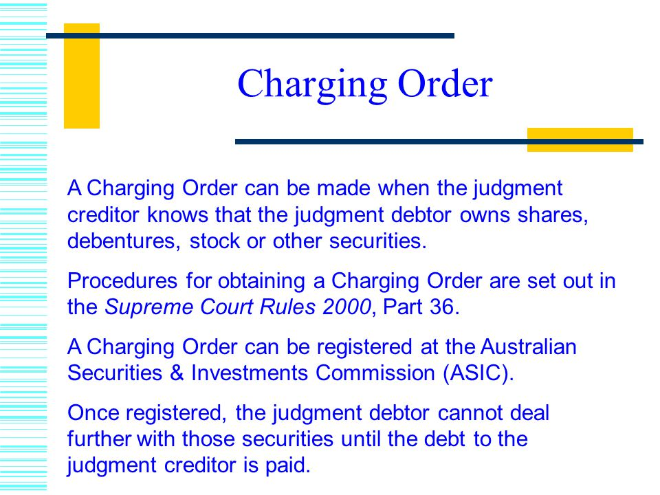 Charging Order