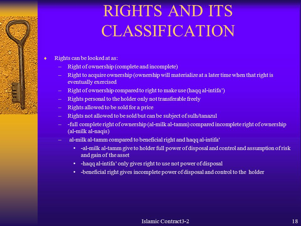 RIGHTS AND ITS CLASSIFICATION