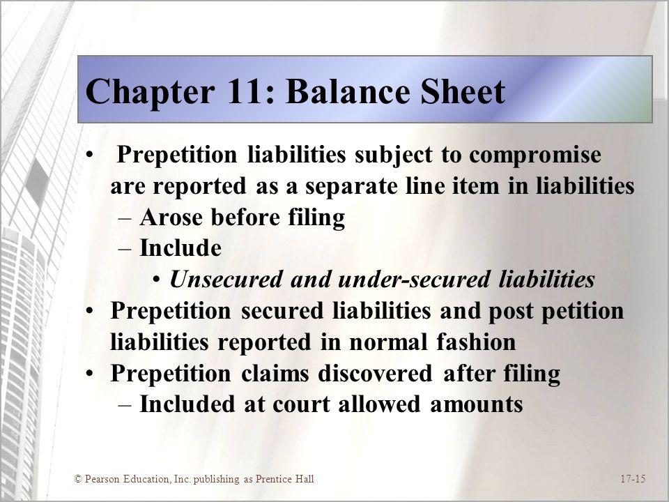 Chapter 11: Balance Sheet