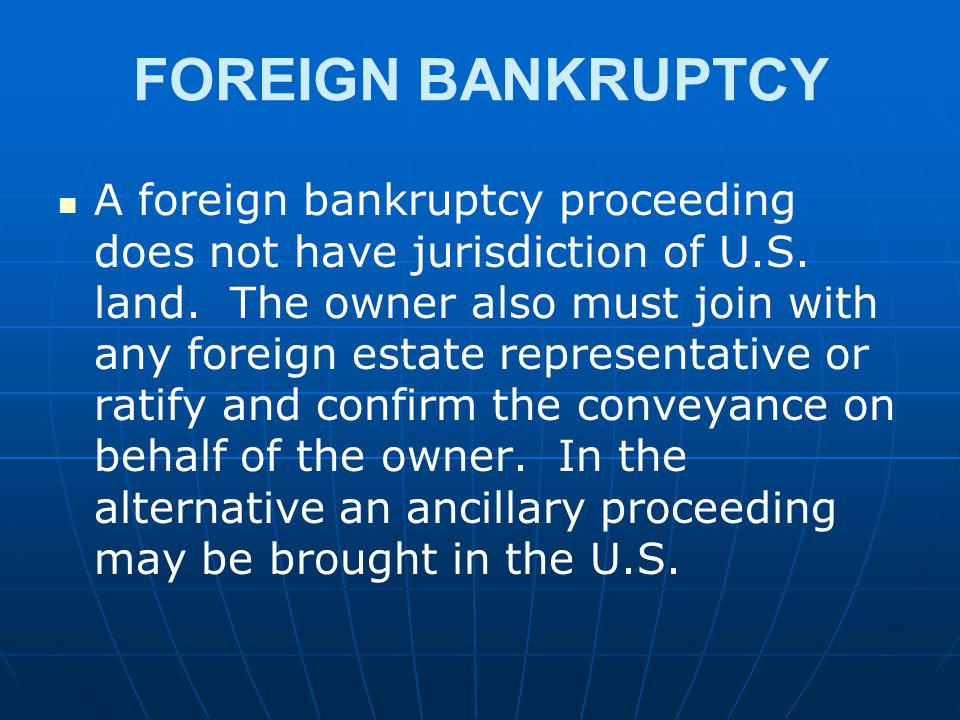 FOREIGN BANKRUPTCY
