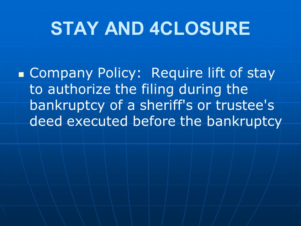 STAY AND 4CLOSURE