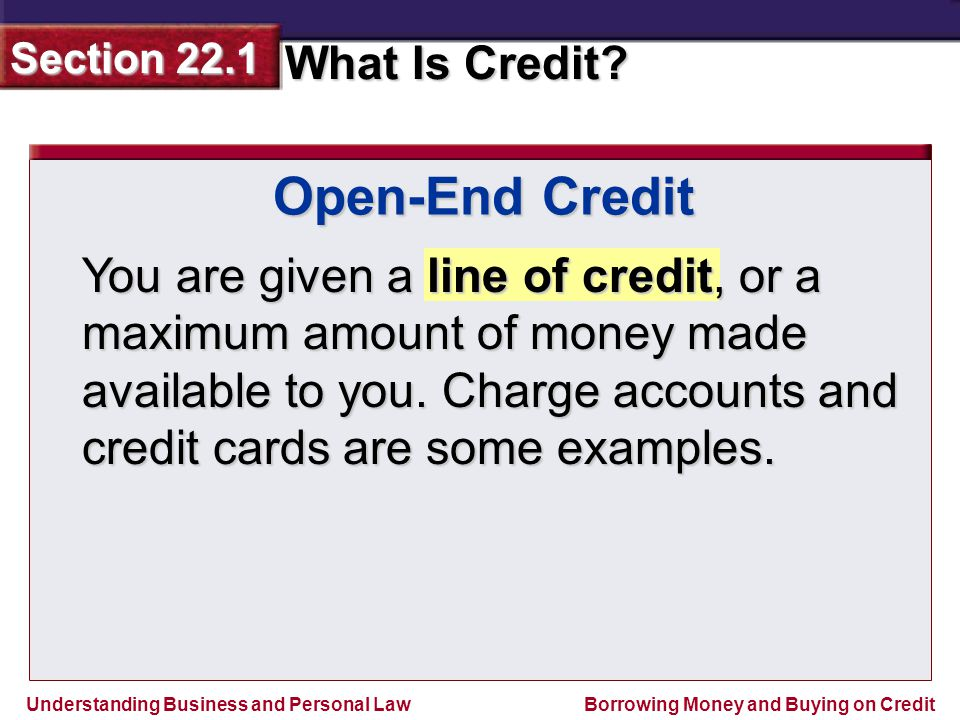 Open-End Credit
