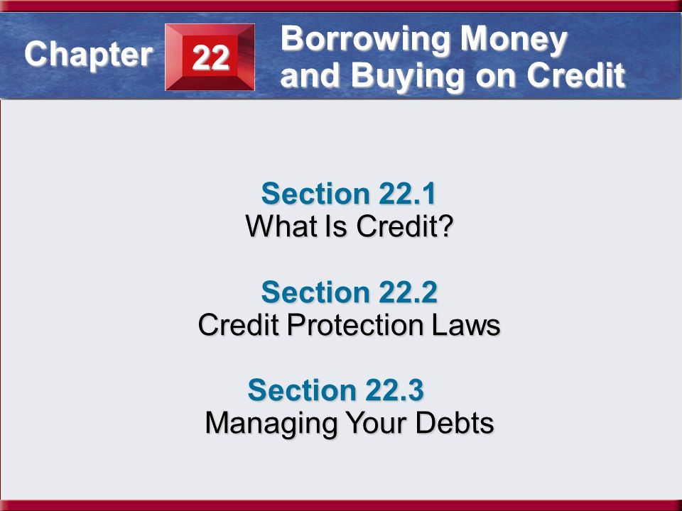 Credit Protection Laws