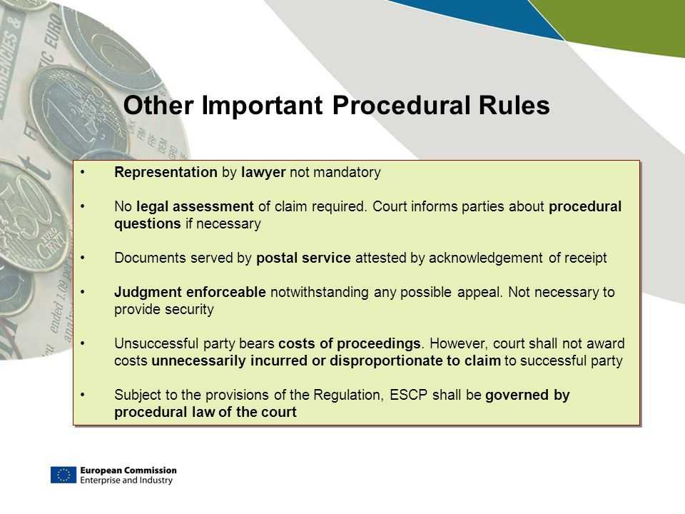 Other Important Procedural Rules