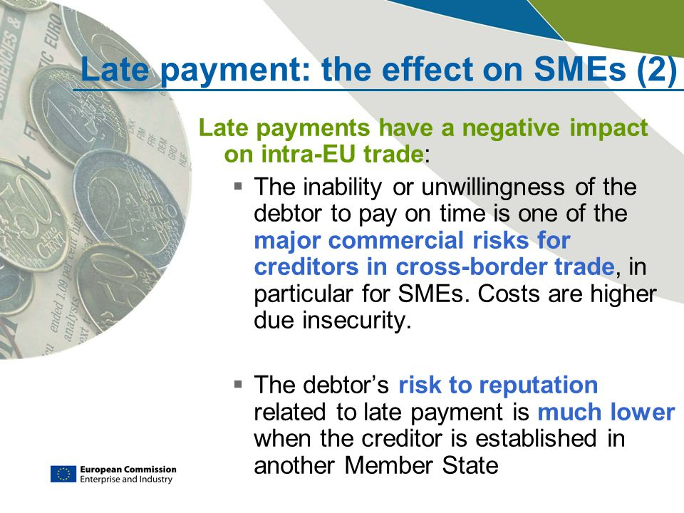 Late payment: the effect on SMEs (2)