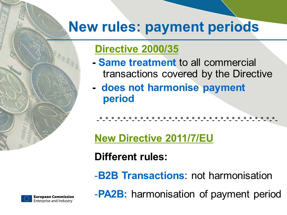 New rules: payment periods