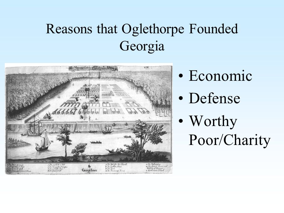 Reasons that Oglethorpe Founded Georgia