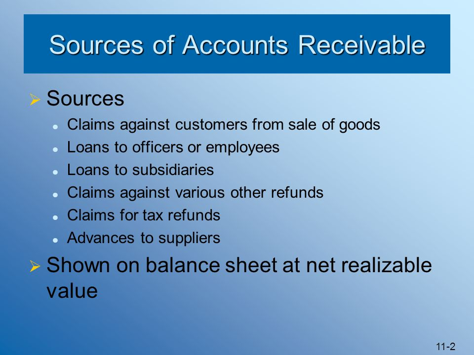 Sources of Accounts Receivable