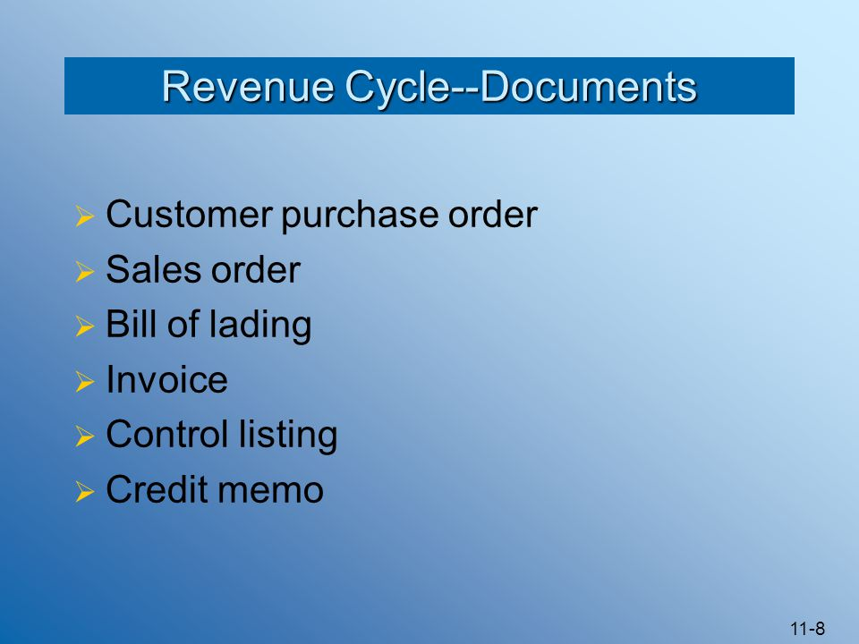 Revenue Cycle--Documents