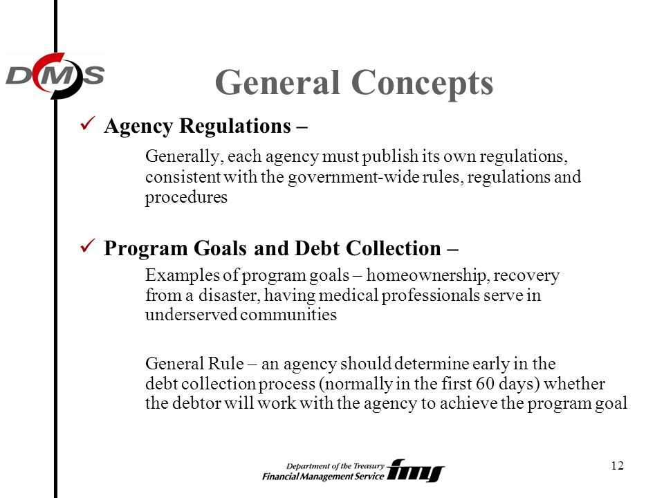 General Concepts Agency Regulations –