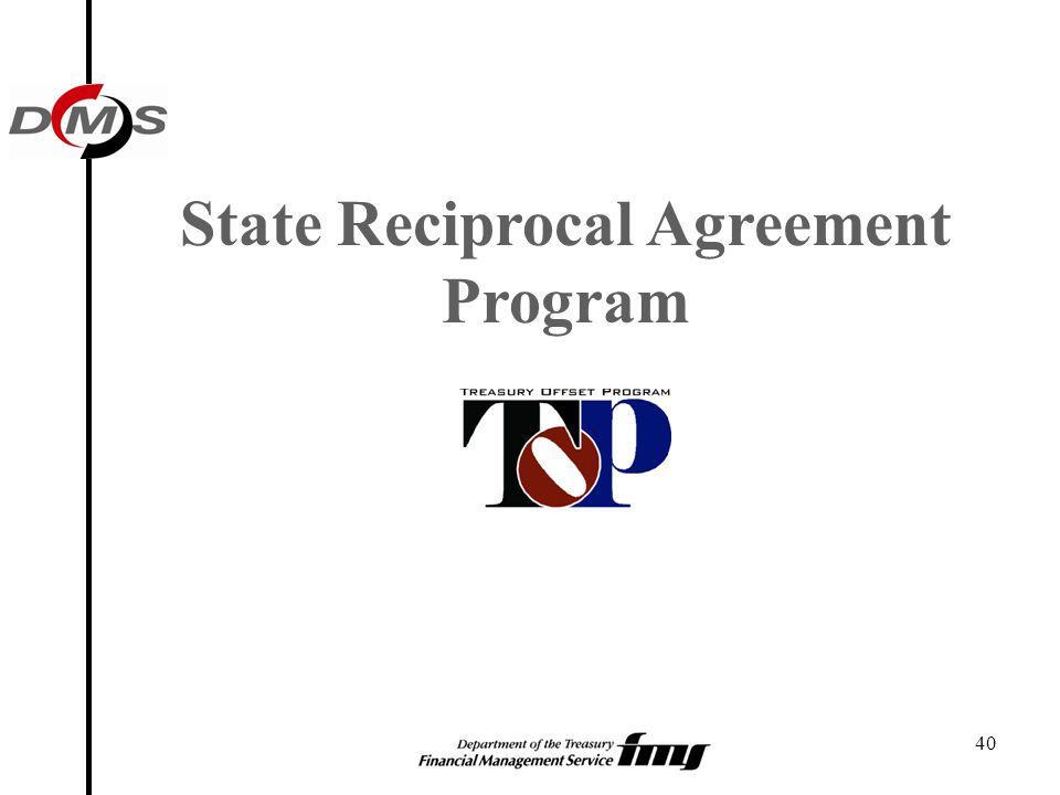 State Reciprocal Agreement Program
