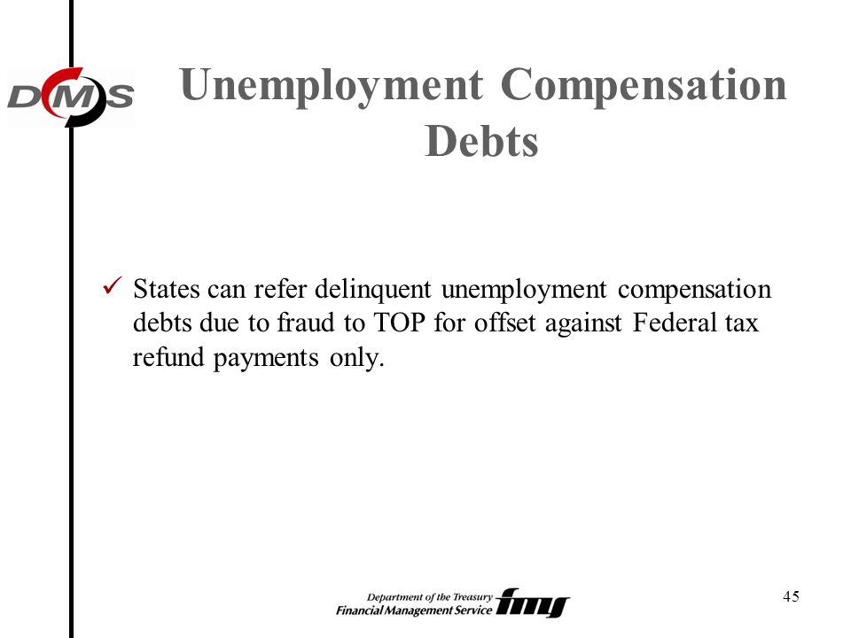 Unemployment Compensation Debts