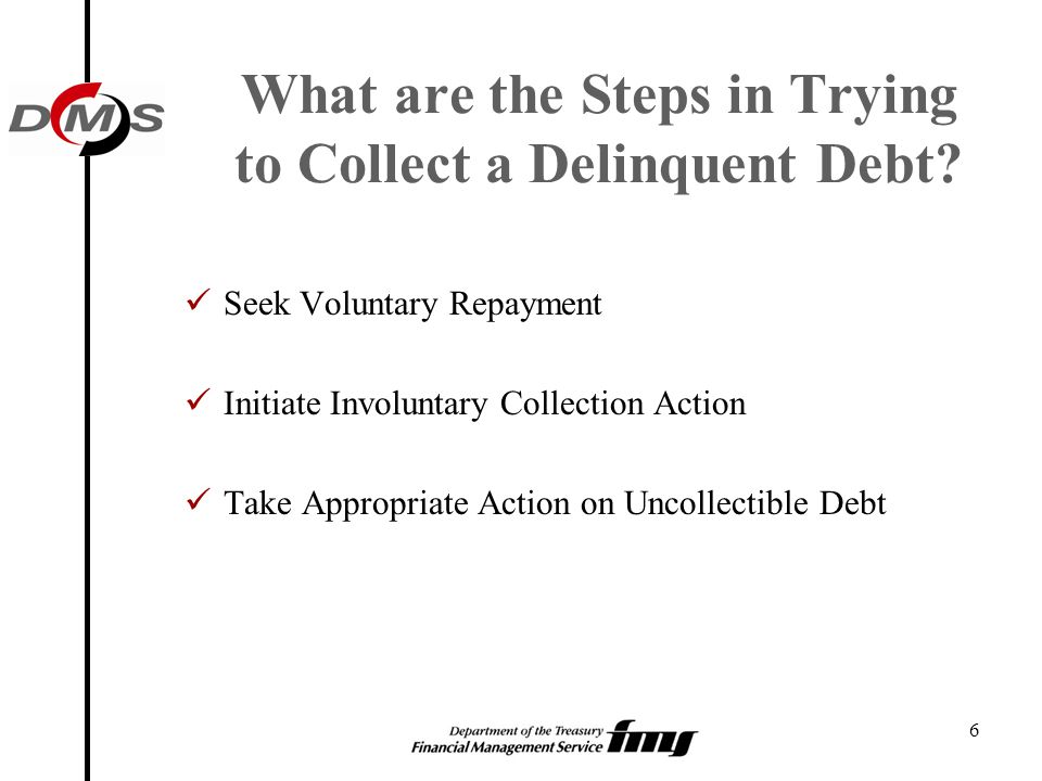 What are the Steps in Trying to Collect a Delinquent Debt