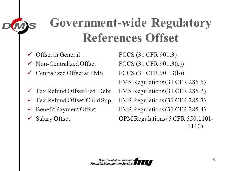 Government-wide Regulatory References Offset
