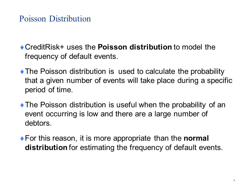 Using the Poisson distribution
