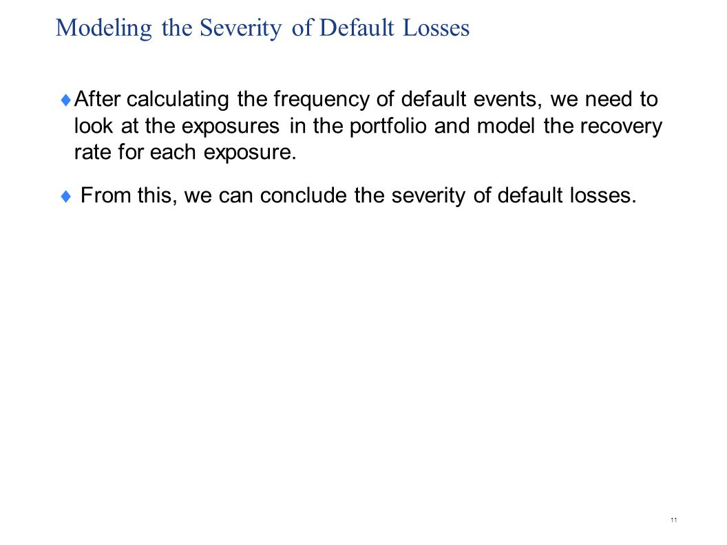 Modeling the Distribution of Default Losses
