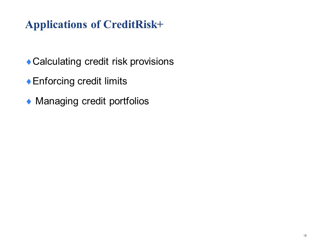Calculating Credit Risk Provisions