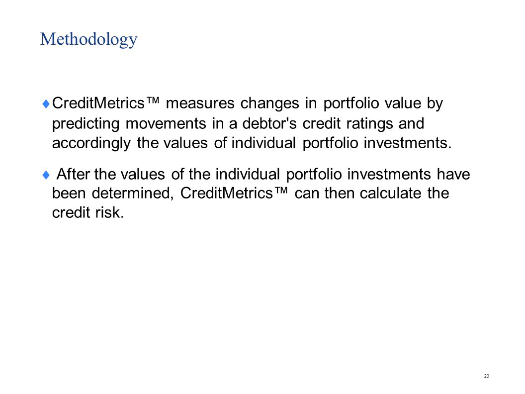 CreditMetrics™ Software – CreditManager®