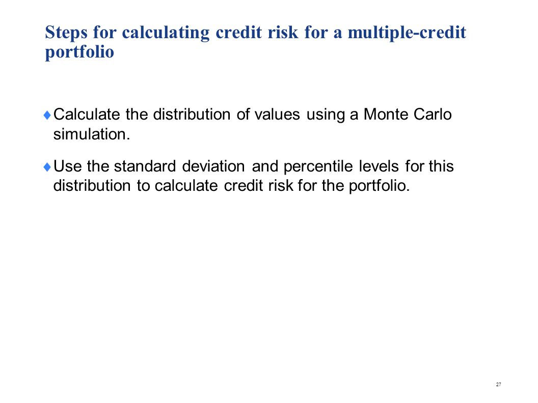 Single credit portfolios