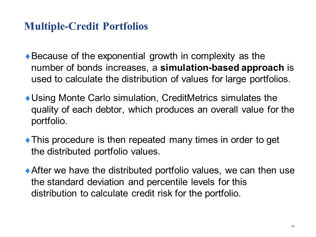 Portfolio Value Estimates at Risk Horizon