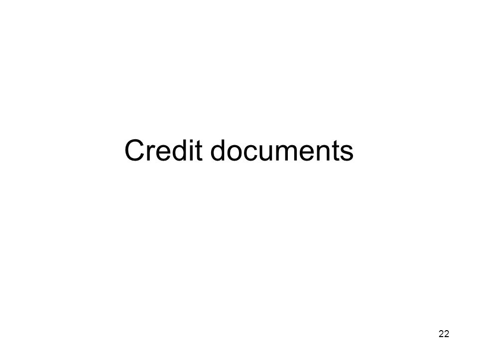 Credit documents