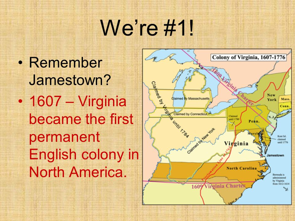 We're #1! Remember Jamestown