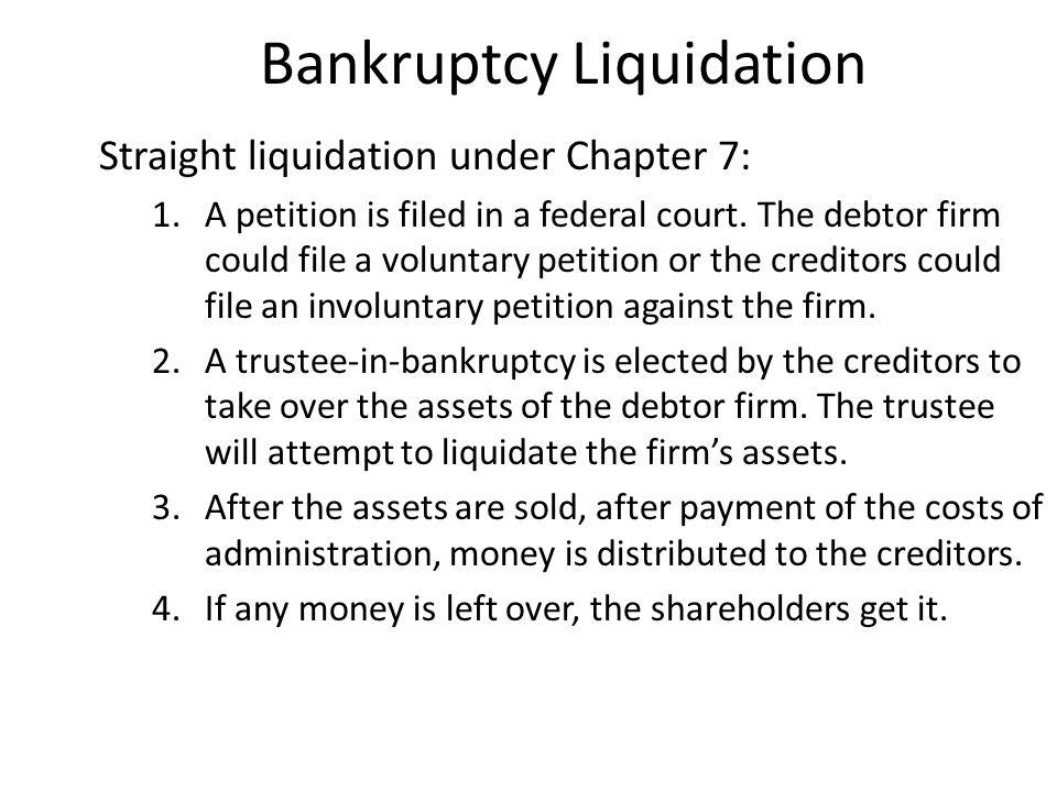 Bankruptcy Liquidation