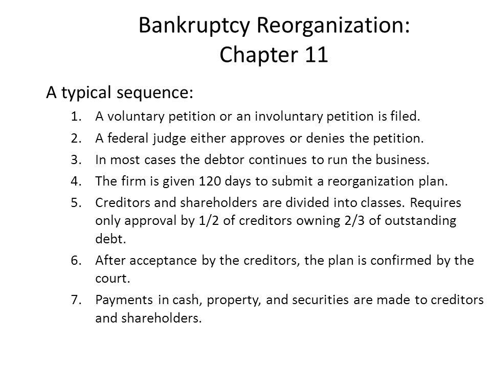 Bankruptcy Reorganization: Chapter 11