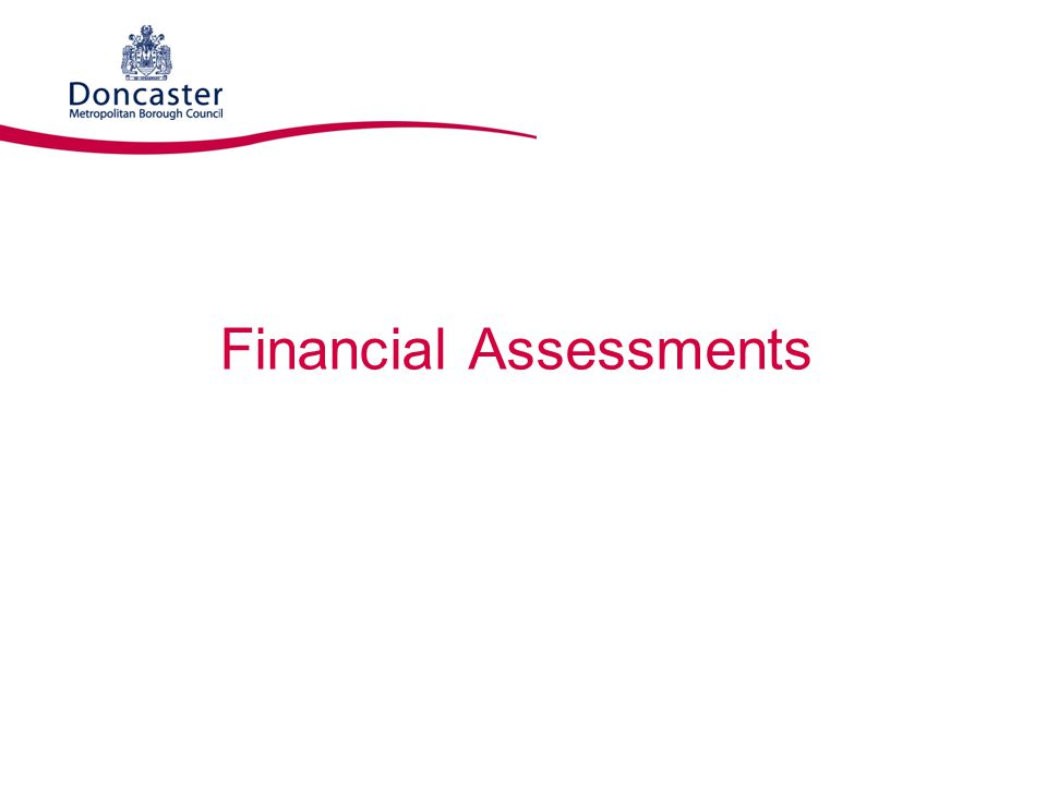 Financial Assessments