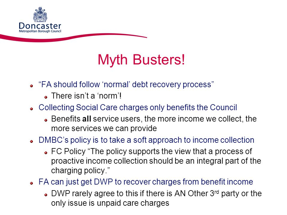 Myth Busters! FA should follow 'normal' debt recovery process