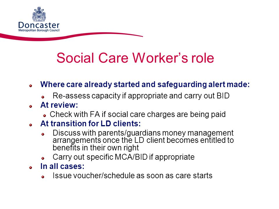 Social Care Worker's role