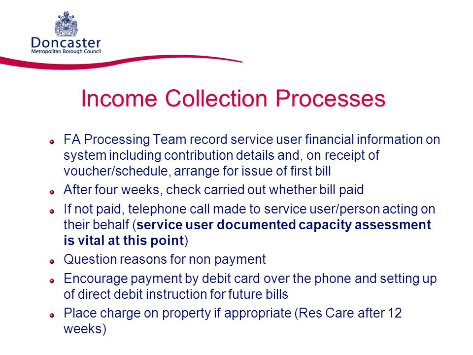 Income Collection Processes