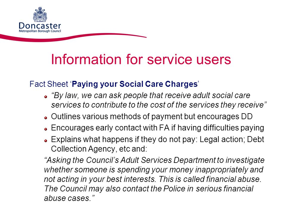 Information for service users