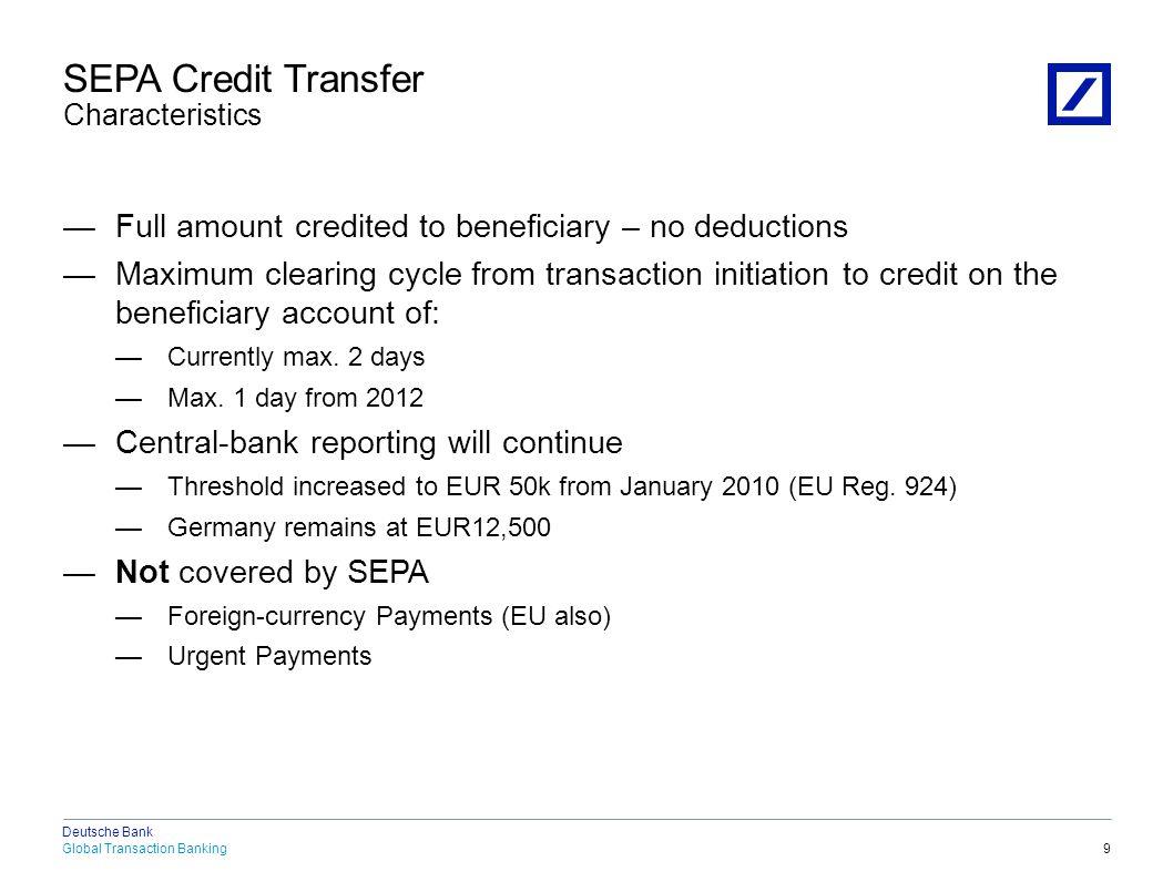 SEPA Credit Transfer New Data Elements