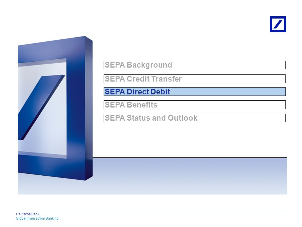 SEPA Direct Debit Characteristics