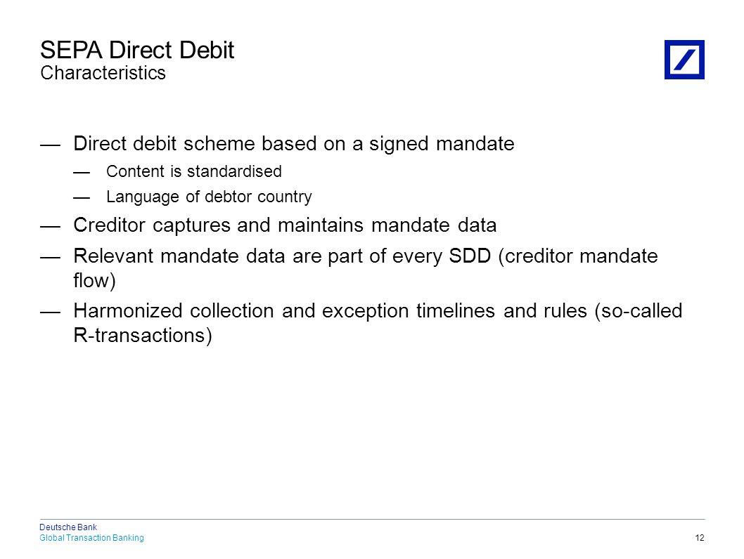 SEPA Direct Debit New Data Elements (1)